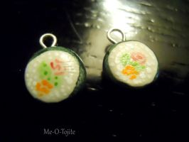 Clay Sushi Earrings by Me-O-Tojite