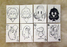 Undertale Cards Set - Aces and Twos by TaiintyHuman