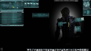 rainmeter dead space rig all-in-one skin screen by louiezzz