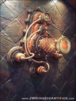 the Braxtonain Lantern wall sconce by JWKinseysArtifice