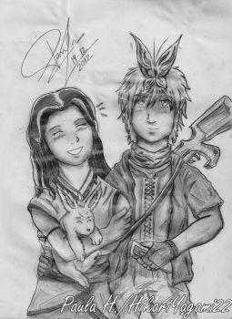 The Children of the Wolf and the Hawk by HikariYagami22