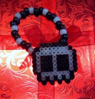 Glow-In-The-Dark Skull Bracelet by cadillacphunque