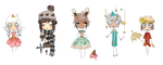 Gaia Chibi Batch 1 by laitdepomme