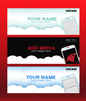 Facebook Cover for Mobile App .PSD by AlbaniaGraphicDesign