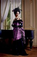 Feathered Victorian Gown by Alice-Corsets