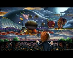 The Flying Parade by bramLeech