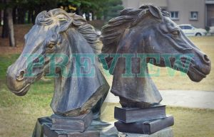Statue of Horse head by Scorpini-Stock