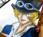 One Piece - Sabo + drawing video by shadowyblueabyss