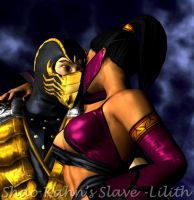 Scorpion with Mileena III by ShaoKahnsSlaveLilith