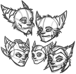 Face Sketchies by Babywarrior5