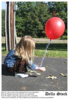 Child with Red Balloon by Della-Stock