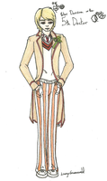 The Fifth Doctor by aquabluejay