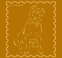 Pit bull stamp by Reike