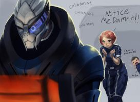 notice me senpai with mass effect by kotorikurama