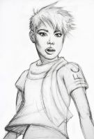 Agyness Deyn Sketch by Gallardose