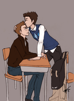 High School!Destiel by KimberBee
