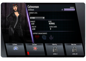 Arkham Catwoman Injustice Card by edrayed