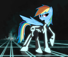 Tron: Rainbow Dash by Aeroflyte
