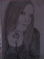 Drawing Anette Olzon by metalsympho