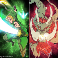 Link Vs Ganon by ManiacPaint