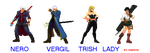 Devil may cry cast by Daeron-Red-Fire