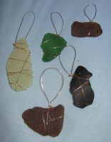 Beach Glass Tree Ornaments by Lost-in-the-day