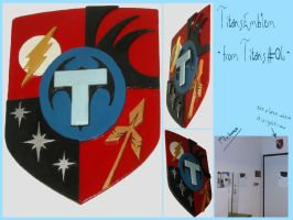 DC COMICS - Titans Toghether Shield Emblem by AridelaAriadne