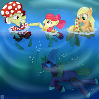 Swimmer Granny by SwanLullaby