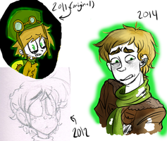 Jeffery Barnabey through the years by ProfessorDeLune