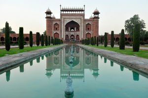 Taj entrance reflected 1 by wildplaces
