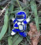 Blue Ranger squirtle pin by biotwist