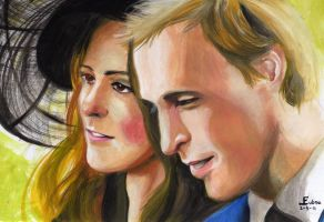 William and Kate by Lubna-fatiha