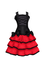 Red dress by Dugters