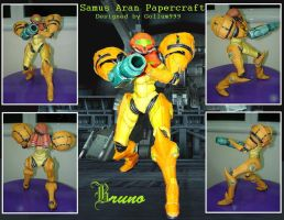 Samus Aran Papercraft by BrunoPigh