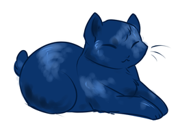 Blueberry kitty by HellLemur