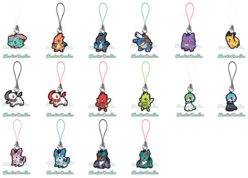 Pokemon Acrylic Charms by Chaotic-Doodles
