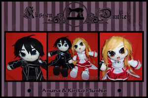 Commission: Asuna and Kirito Plushie by Kussen-Dunkel