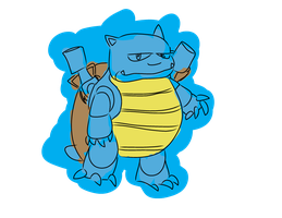 Blastoise Quickly Colored by COMEDIC-Sidekick