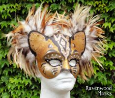 Bengal Cat mask by Alyssa-Ravenwood