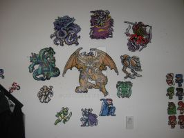 Perler Final Fantasy 1 Bosses by rushtalion