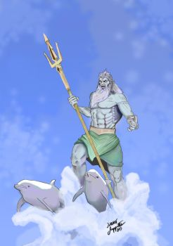 Poseidon - God of the Seas by Ivano-S