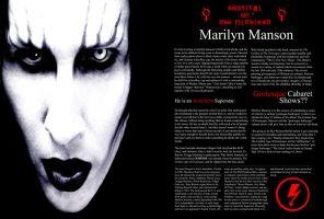 Merilyn Manson's Headline by aryaz