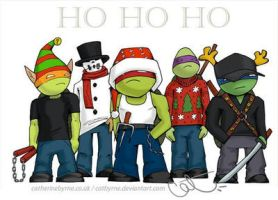 TMNT Old School Xmas (with Casey) by CatByrne