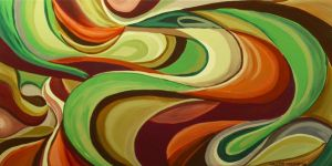 6.10.08 Swirl Abstract 48x24 by CalebMiles