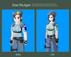 Draw This Again Meme 2: jill valentine by bocodamondo