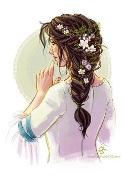 Jasmine and daisies by Alassa