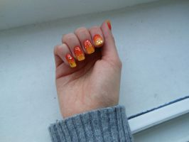 Sunset Nails #4 by steponecomplete