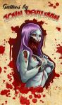 Jawless Zombie Girl by johndevilman