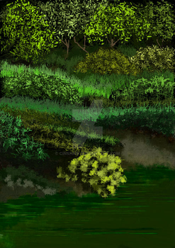 Green pond by CINSHAW