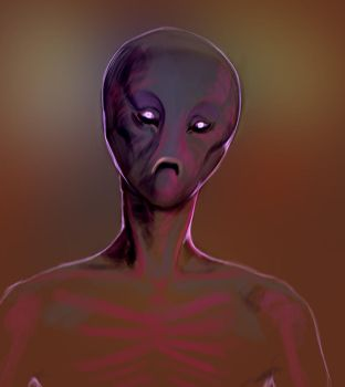 Alien head by Andromonoid